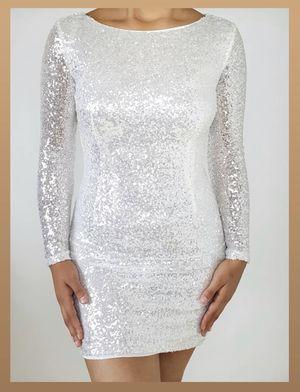 NEW White sequin dress for Sale in Cornelius, OR