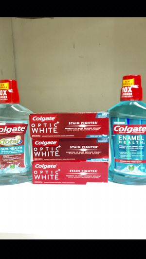 COLGATE MOUTHWASH AND COLGATE OPTIC WHITE TOOTHPASTE BUNDLE for Sale in Redondo Beach, CA