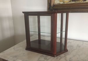 LOT 2 small Glass & Wood CURIO CABINET for Sale in Baltimore, MD