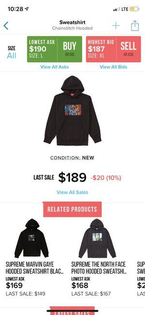Supreme Chainstitch Black Hoodie size M for Sale in Austin, TX