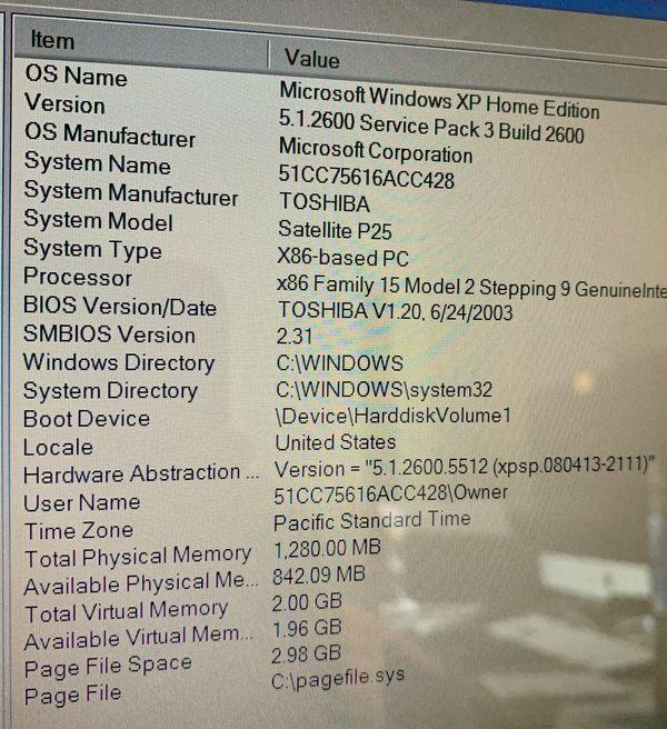 """Toshiba Satellite 17.5"""", P25-S507, PC Laptop"""