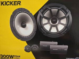 Car speakers : kicker 6 3/4 inch 300 watts component speaker system brand new for Sale in Bell Gardens, CA