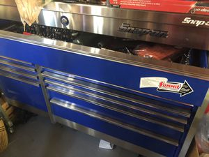 Snap on rolling tool chest - stainless steel top for Sale in Woburn, MA