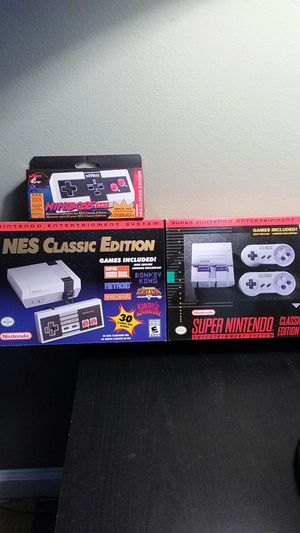 NES classic edition SNES classic edition and miniboss wireless controller for NES classic for Sale in Allen Park, MI