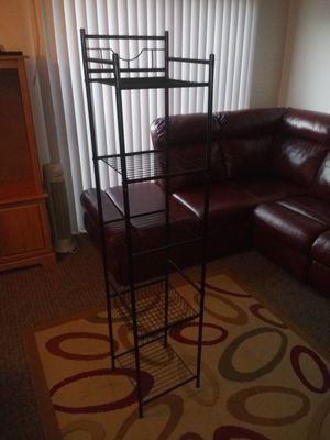 Black metal shelf unit for Sale in Seneca, SC