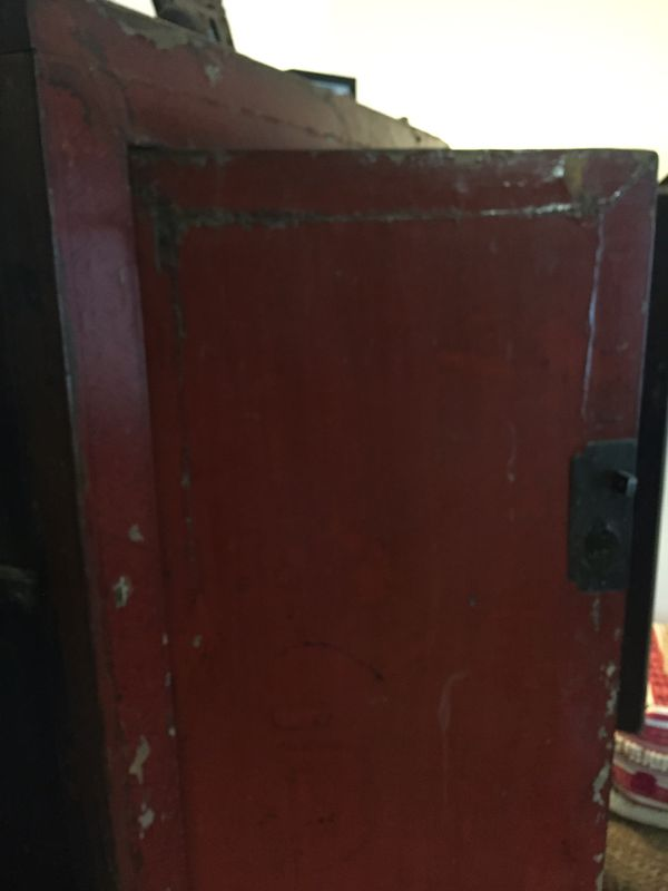 Antique imported Chinese Armoire - gorgeous red w/ custom shelves - For sale or Trade!