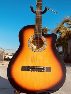 Acoustic guitar metal strings cutaway design color Sun burst for Sale in Norwalk,  CA