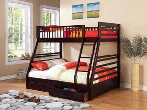 Twin /full bunkbed (trundle or mattresses sold separately) for Sale in Tacoma, WA
