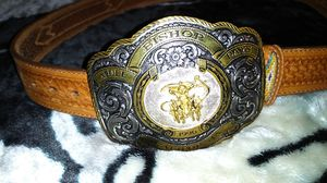 Crumrine belt buckle with belt for Sale in Pinon Hills, CA