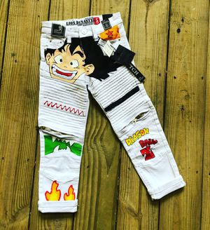 Dragon Ball Z HAND PAINTED kids pants sz 5 for Sale in UPR MARLBORO, MD