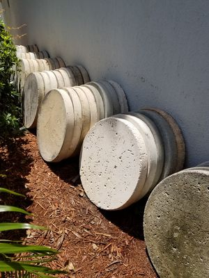 Assorted Concrete Stepping Stones for Sale in Pompano Beach, FL