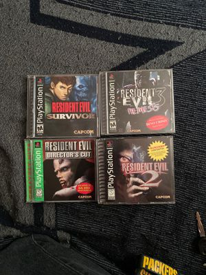 Resident evil Ps1 collection for Sale in Fresno, CA
