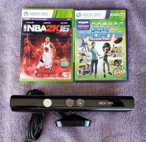 SUPER FUN MICROSOFT KINECT SENSOR BUNDLE WITH GAMES XBOX 360 for Sale in Tucson, AZ