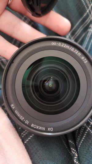 Nikon 10-20mm nikkor lense for Sale in Cedar Park, TX