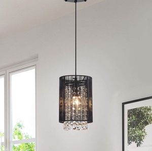 Sophisticated Black Mini Chandelier Crystal Pendant Light for Kitchen Dining Area Island Counter Bar for Sale in New York, NY