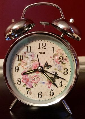 Decorative twin bell alarm clock for Sale in Hanover Park, IL