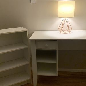 white desk + bookshelf for Sale in Buffalo Grove, IL