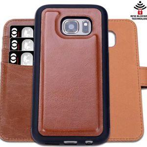 SHANSHUI Samsung Galaxy S7 Edge Detachable Phone Case (Brown) for Sale in Detroit, MI