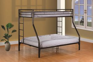 TWIN/FULL BUNK BED BLACK for Sale in The Bronx, NY