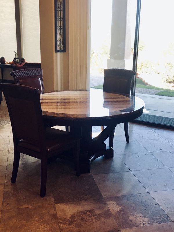 60in Round Marble Dining Room Table