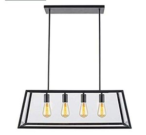 Chandelier 4-Light Pendant with Clear Glass Panels for Sale in Pico Rivera, CA