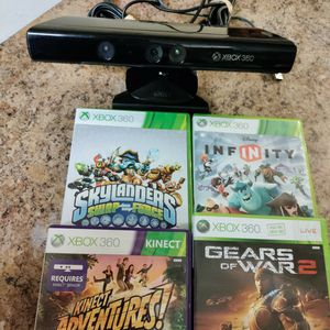 Xbox 360 Accessories Kinnect Sensor & 4 Games for Sale in Phoenix, AZ