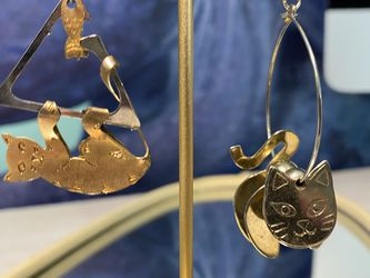 Trendy Unsymmetrical Cat Earrings for Sale in Chesterfield,  MO