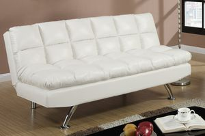 "Brand new 78"" white or black faux leather sofa futon for Sale in San Diego, CA"