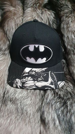 Batman Hat Cap (Black) One Size Snap Back DC Comics for Sale in Tolland, CT