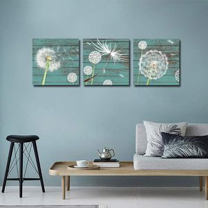 Wall Art Abstract White Dandelion Green Driftwood Wall Decor for Sale in Marquette, MI