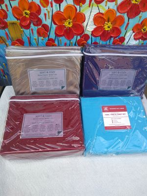 New Soft & cozy better home better life 100% poyester sheet sets . Twin . Twin XL . full . Queen . king. $10 each for Sale in Anaheim, CA
