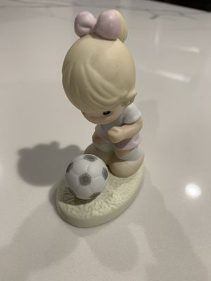Precious Moments girl with soccer ball for Sale in Troy, MI