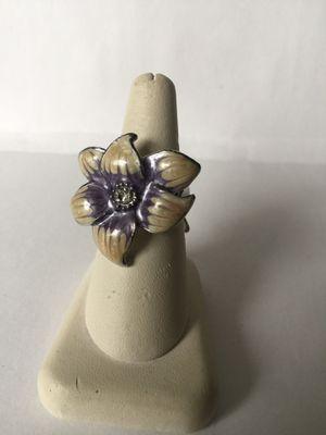 Flower enamel ring for Sale in Miami, FL