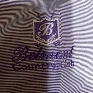 FootJoy Medium Purple Stripe Belmont Country Club Golf Polo Shirt for Sale in Alexandria, VA