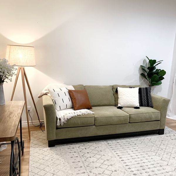Beautiful Olive Color Sofa Couch