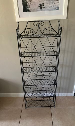Black iron bakers rack for Sale in Lake Worth, FL