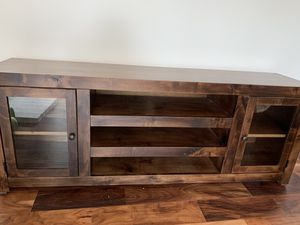 Walton 72 Inch TV Stand, Brown Wood for Sale in Costa Mesa, CA