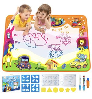 Betheaces Water Drawing Mat Aqua Magic Doodle Kids Toys Mess Free Coloring Painting Educational Writing Mats Xmas Gift for Toddlers Boys Girls Age of for Sale in Barre, VT
