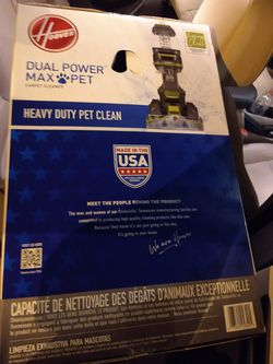 Hoover Dual Power Max Pet Carpet Cleaner for Sale in Washington Township,  NJ