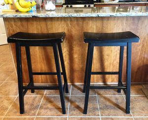 2 Wooden Stools painted black for Sale in Purcellville, VA