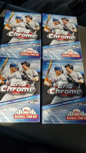 2020 Topps Chrome Baseball Hanger boxes (4) for Sale in Tampa, FL