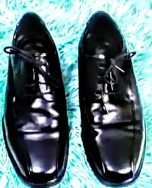 Men's size 12 black leather dress shoes Croft& barrow WORN ONCE. 59.99 NEW for Sale in Dallas, TX