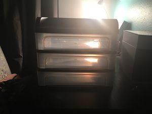 3 bin plastic drawer for Sale in Lithia, FL