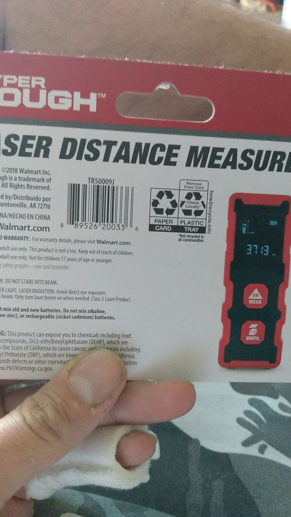 Hyper tough laser distance