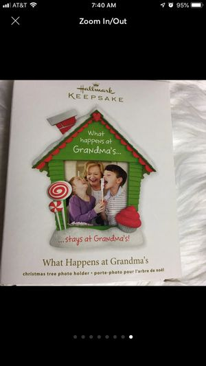 """Hallmark Christmas Ornament """"What Happens at Grandma's Stays at Grandma's"""" Keepsake Ornament 2012 NIOB for Sale in Eagle Point, OR"""