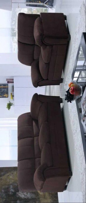 🔔Halo Chocolate Sofa & Loveseat 🔔Global for Sale in Glen Burnie, MD