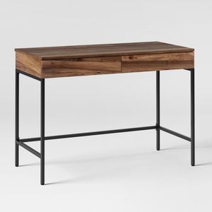 Loring Writing Desk Walnut color- Project 62™ Writing desk that can double as a console table 2 side-by-side drawers provide adequate storage to kee for Sale in Arcadia, CA