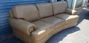 Curved leather sofa for Sale in Hudson, FL