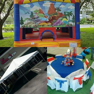 Tent 10x20. $100 chairs $ 1.00 table $6.00 tablecloths $9.00 for Sale in Miami, FL