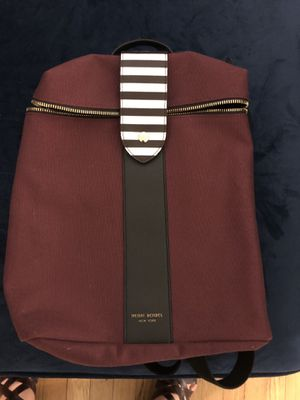 Limited Edition Burgundy Canvas Backpack Henri Bendel for Sale in Clearwater, FL